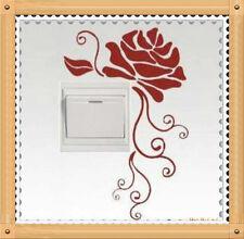 Flor Rosa Interruptor De Luz De Pared Netbook adhesivos de vinilo de Reino Unido