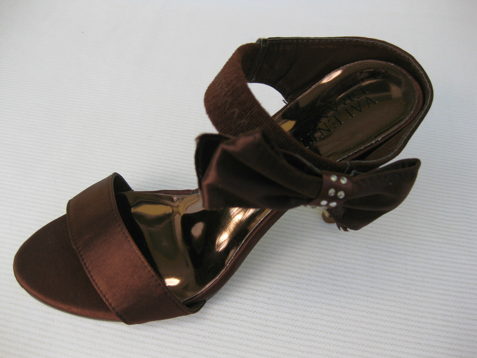 Valenti Franco Satin Womens Shoes $55 Plated Slide Bronze Satin Franco Evening 9 M 1d3ec3