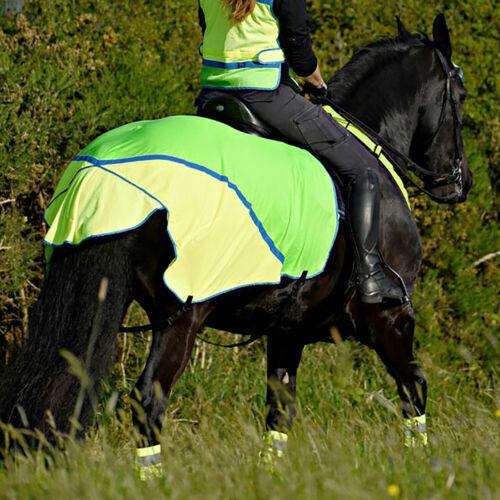 Equisafety Charlotte Dujardin Mesh Quarter Safety Wear Reflective Exercise Sheet