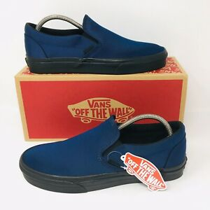 6b11afc2aa Details about *NEW* Vans Authentic Waterproof Slip-On (Men Sizes) Navy Blue  Skate Shoes