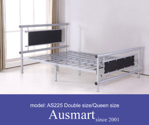 Strong-Queen-size-metal-beds-with-soft-cushion-30-postage-to-Melbourne-metro