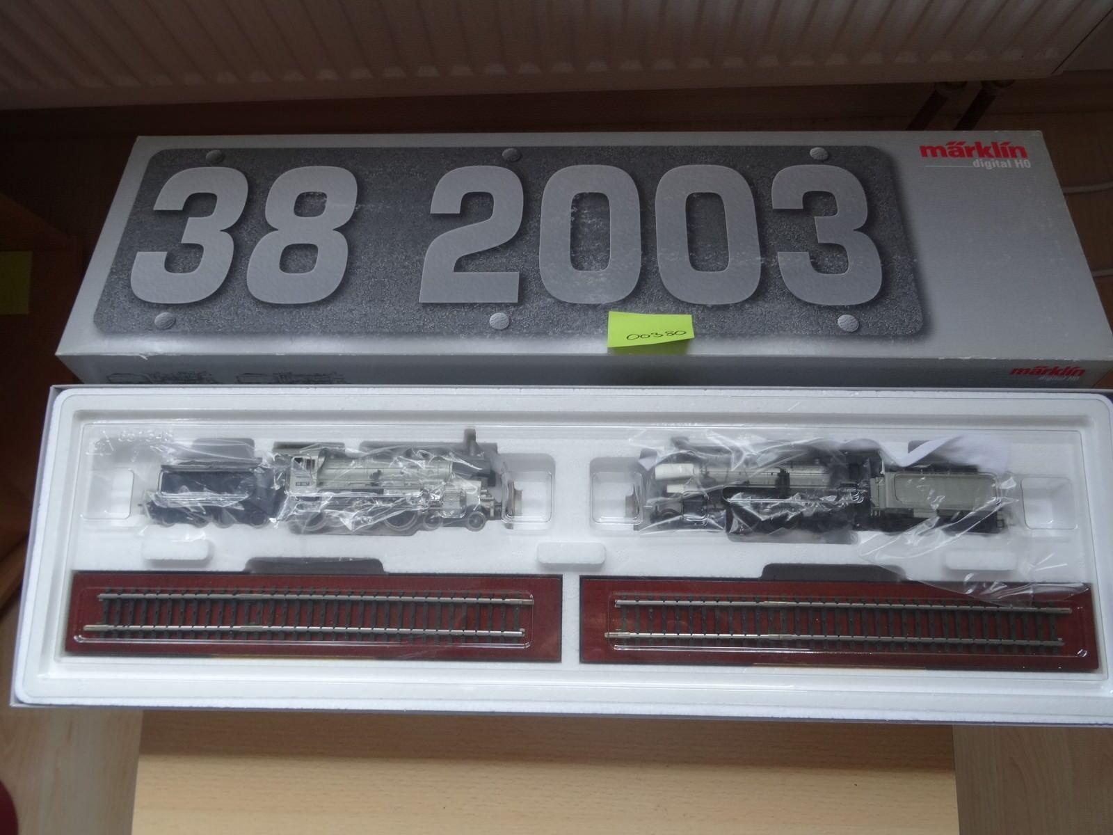 Märklin HO Art 00380 Metall-Tech Dampflok mit mit mit P 8 und BR 38     Neuware  OVP  | Tragen-wider  b554d4