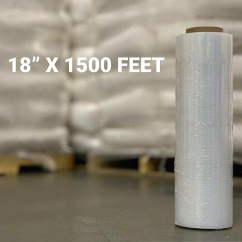 """18/"""" x 1500/' 1 Roll-9 Lb Total 80 Gau' Pallet Stretch Film Shrink Hand Wrap"""