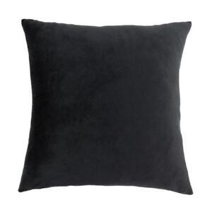 45cm-Solid-Colour-Velvet-Cushion-Cover-Bed-Decor-Throw-Pillow-Case-Black