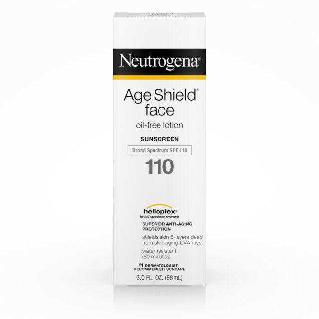 Neutrogena Age Shield Face Lotion Sunscreen Broad Spectrum Spf 110 3 FL. OZ.