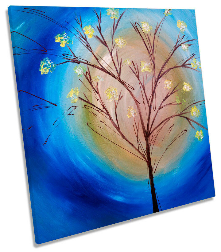 Winter Tree Texturot SQUARE CANVAS WALL ART Print Picture