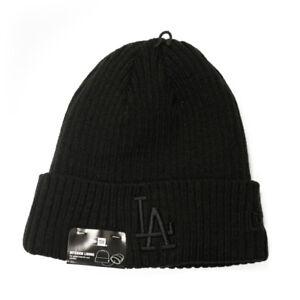 New-Era-Core-Classic-034-LA-Dodgers-034-Knit-Beanie-Hat-Blackout-MLB-Cuffed-Cap