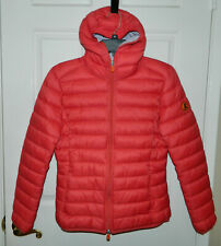 $175 NWT Save The Duck Womens Puffer Vest Jacket Plumtech Paradise Red XS S M XL