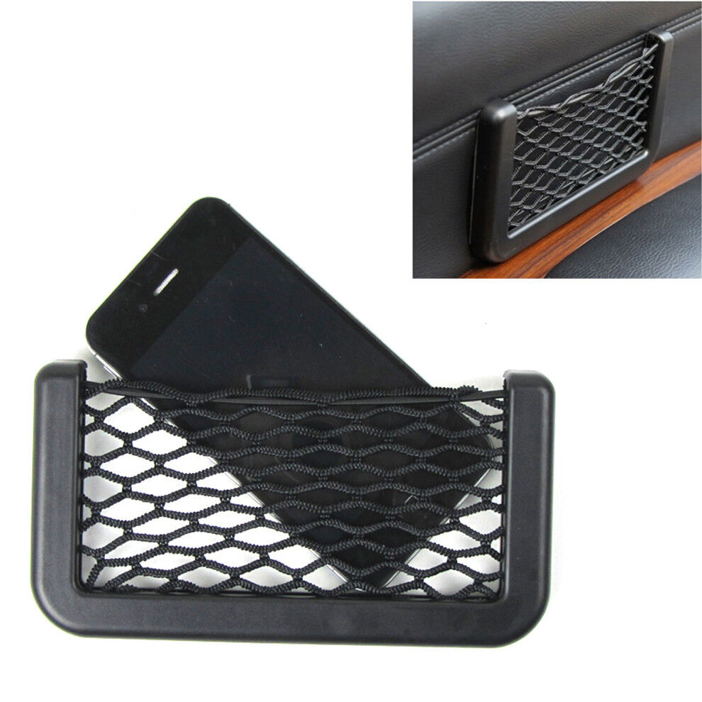 Car Interior Door Edge Black Elastic Net Storage Phone