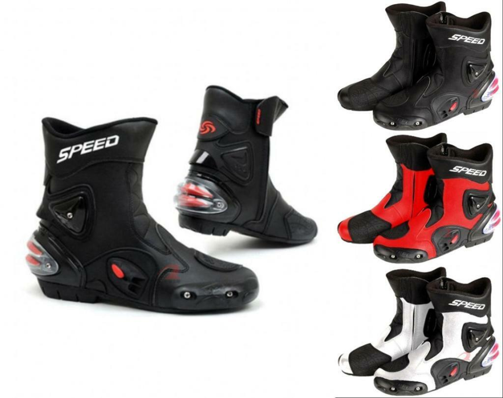 Men Women Speed PRO-BIKER Motorcycle Racing Riding Boots Cycling Sports shoes
