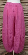 LAGENLOOK OVERSDIZED LINEN BALLOON HAREM TROUSERS/PANTS***PINK***SIZE XL-XXL
