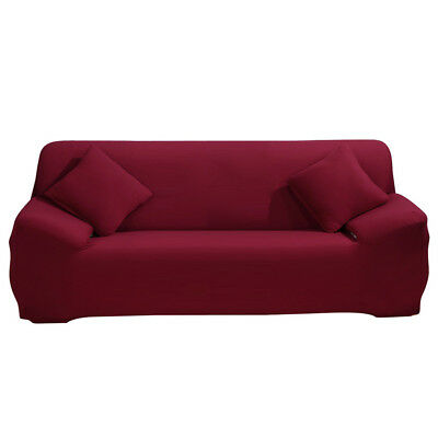 Wine Red Sofa Covers Protector Loveseat Chair Arm Chair ...