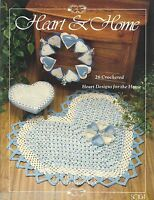 Heart & Home Crochet Pattern Book Mary Busemelick Heart Coasters Rug Doilies