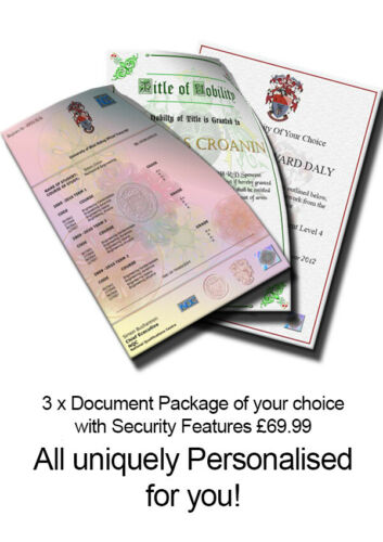 Personalised Novelty Certificate Degree Diploma Transcript Replacement Spoof