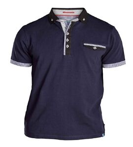 Details about Mens Big Size Duke D555 Polo Shirt 3XL 4XL 5XL 6XL Navy or Black With Contrast