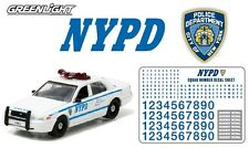 1:64 GreenLight *HOT PURSUIT* 2011 FORD CROWN VICTORIA *NYPD* w/NUMBERS