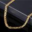 18k-feine-Goldkette-Koenigskette-vergoldet-60cm-lang-4MM-Damen-Herren-Geschenk Indexbild 4