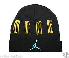 item 2 NIKE Air Jordan Retro XI Beanie Men s Adult One Size Black Gamma  Blue Yellow 11 -NIKE Air Jordan Retro XI Beanie Men s Adult One Size Black  Gamma ... a54da6541520