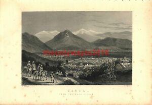 Cabul-Kabul-Afganistan-General-View-Book-Illustration-Print-c1890
