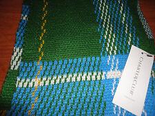 * Womens Charter Club Green Blue White Yellow Plaid Knit Scarf Acrylic Wool SOFT