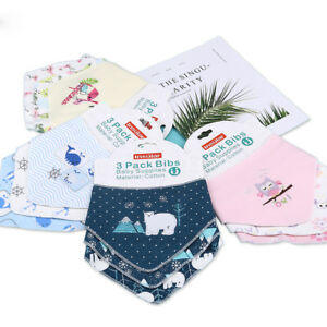 3pcs-Infant-Cute-Saliva-Towel-Triangle-Scarf-Baby-Cotton-Bibs-Feeding-Cloth-HOT