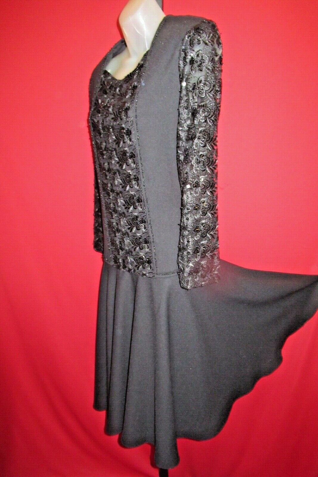 ~~Vintage 80's Black embroidered Beaded Lace Mourning Dress Size Small~~