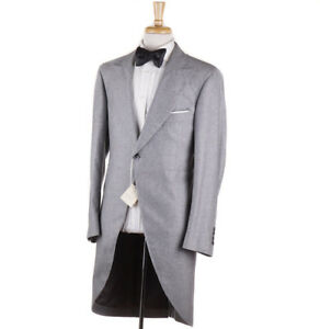 19b3be8f87d49e NWT $7445 BRUNELLO CUCINELLI Light Gray 100% Cashmere Morning Suit ...