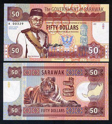 Sarawak, Malaysia, 50 dollars, 2017, Private Issue, UNC - Calm Tiger