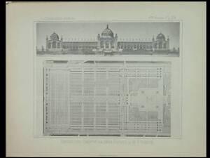 PARIS, EXPOSITION UNIVERSELLE 1889 - PLANCHE 1886- Formigé, PALAIS BEAUX ARTS