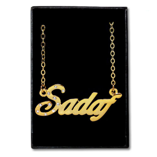 Fashion Anniversary Gift Ideas For Her Gold Plated Name Necklace SADAF
