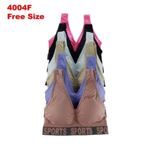 3-6 Sport Bras Yoga Activewear Workout TOP CAMISOLE MISS PLUS SIZE GIFTS PACK 04