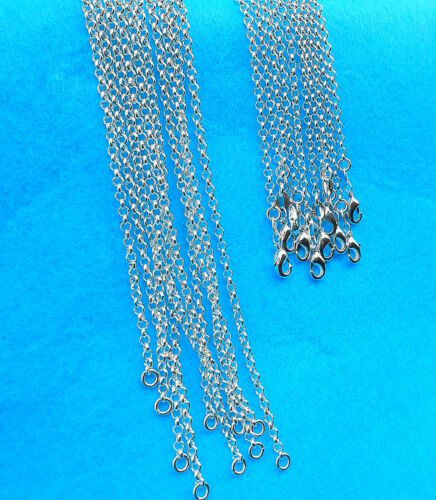 1PCS Nice Jewelry Cross Pearl 925 Silver Plated Necklace Chains For Pendants Top