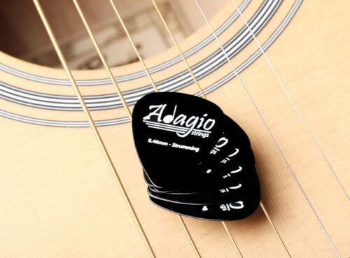 5 Plectrums Acoustic Guitar Gift Adagio Leather Keyring Pick Plectrum Holder