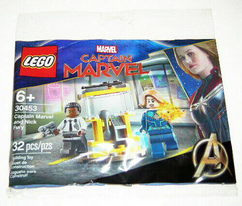 Lego 30453 Captain Marvel Exclusive Poly Bag Captain Marvel And Nick Fury 32 Pcs