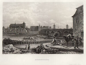Regensburg Original Stahlstich Winkles 1840