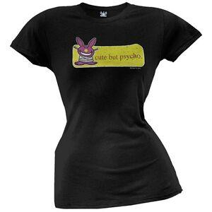 Happy Bunny - Cute But Psycho Juniors T-Shirt | eBay