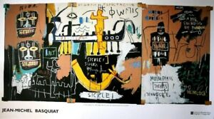 Jean-Michel-Basquiat-Rare-EXTRA-LARGE-History-Of-Black-People-Exhibition-Litho