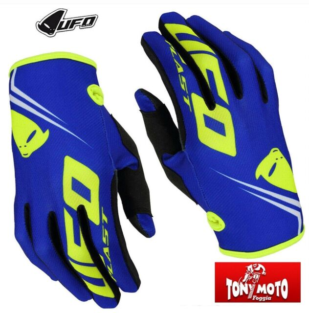 Guanti Adulto Cross Enduro Ufo Trace Blu Mx Gloves Blue MTB BMX DH