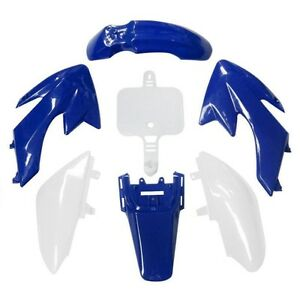 7-PCS-Plastic-Fairing-For-HONDA-CRF-50-CRF50-SSR-SDG-Dirt-Pit-Bike-Blue-amp-White
