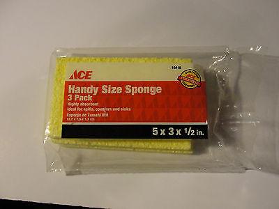 Ace Hardware Handy Size Sponge 3 Pack 10418 82901104186 Ebay