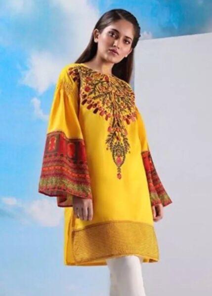 20% De Descuento Eid Pakistaní Sana Safinaz Bordado Kurta Kameez Césped De Verano Talla S-ver