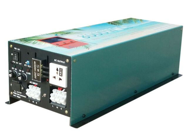 32000w Peak 8000w LF Split Phase Pure Sine Wave Power Inverter DC 12v to AC