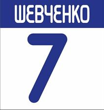 Shevchenko #7 Dynamo Kiev 2009-2010 Home Football Nameset for shirt
