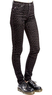 TRIPP RED BLACK LEOPARD JEAN PANTS MOTO METAL SKINNY GOTH ROCKER PUNK IS6235P