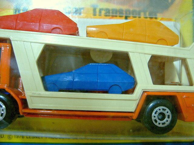 tienda de bajo costo Matchbox No.11C No.11C No.11C Coche Transportador naranja con más Raro Menta De Coche Azul Oscuro  promocionales de incentivo