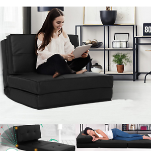 Sofa Chair Pu Leather Seat Mattress Bed