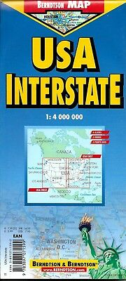 Map of USA Interstate by Berndtson Maps for sale online | eBay