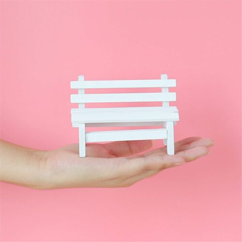 DIY Mini Wooden Bench Dolls House Miniature Garden Dollhouse Furniture Accessory
