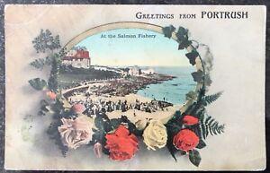 At The Salmon Fishery Portrush Co Antrim Postcard N Ireland Fergus O'Connor