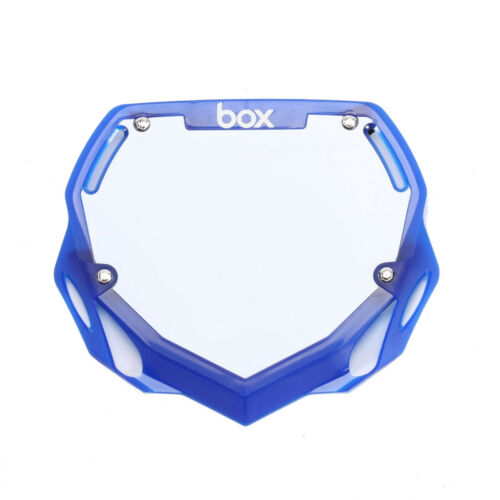 BOX PHASE 1 BMX NUMBER PLATE TRANSLUCENT BLUE PRO